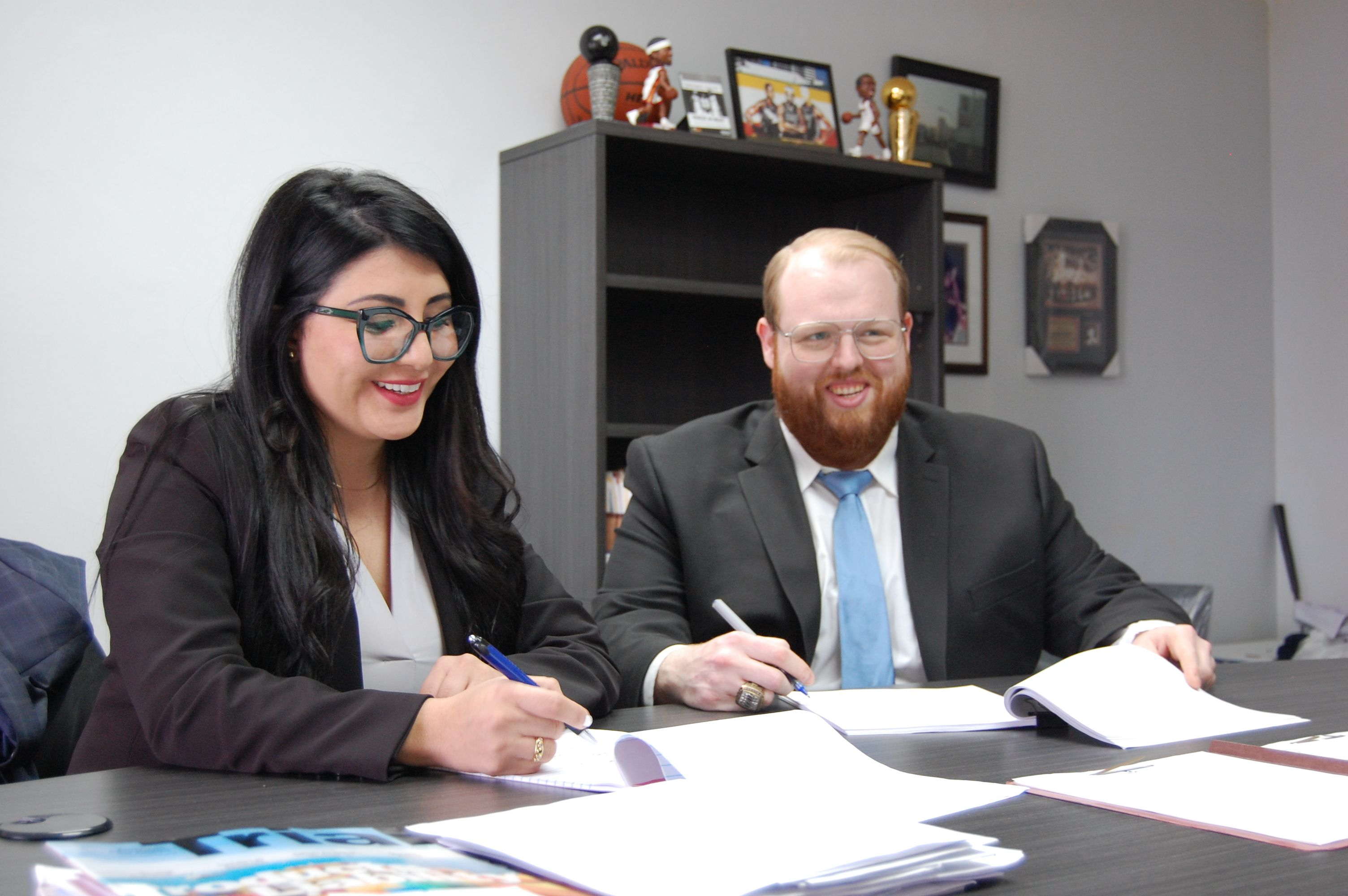 Attorney William Johnson and Attorney Leidy Cuervo Working on a Case